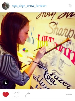Coco writing great letters NGS Signsmiths