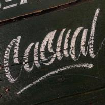 Casual and distressed letters coming up!!! NGS Signsmiths London signwriting courses
