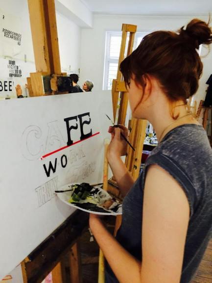 Chloe Garrett sign painter