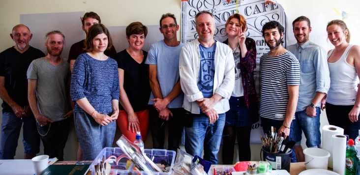 NGS Lettering course Group shot. 72