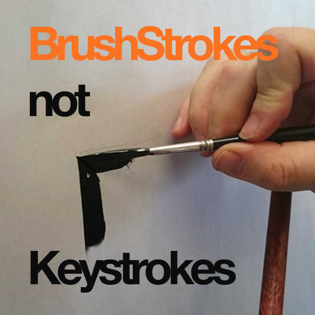 Brushstrokes not keystrokes NGS Signsmiths Courses rock!