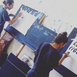 Signsmiths Signwriting course at work NGS London