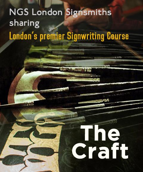 UK London Signwriting course Nick Garrett Sign writer