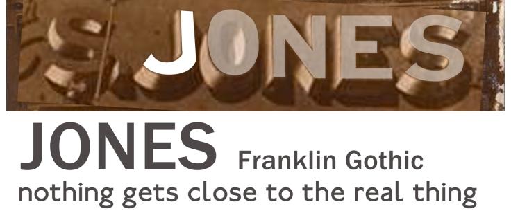 Jones Real lettering
