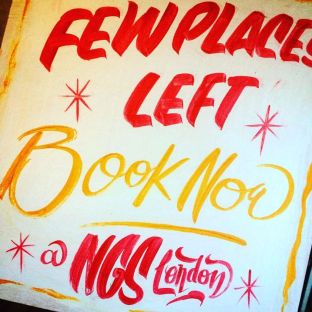 Few places left NGS signwriting courses London