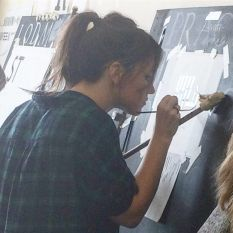 In House with Hannah the Signsmiths this week NGS London Signwriting