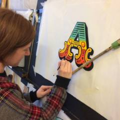 NGS Signsmiths carvnival letters Learn to paintr letters London 007